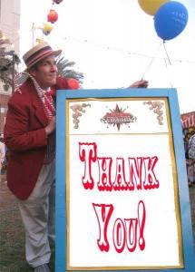 Thank you from Los Angeles Magician Robert Baxt
